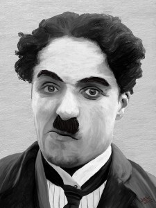 Chaplin sported the toothbrush mustache before Hitler. Chaplin was the original hipster.