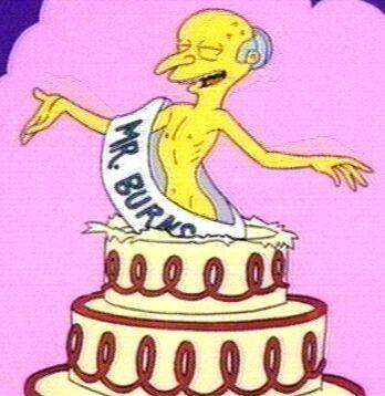 Mr Burns Happy Birthday Cake