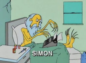Thanks to this picture, I was completely dismayed when I saw a real photo of Sam Simon.