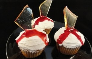 Inspect treats carefully. For example, could you tell this cupcake may have broken glass in it?